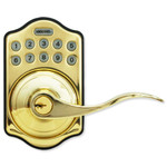 LockState L5i-PB-A RemoteLock Wi-Fi Electronic Lever Door Lock, Polished Brass