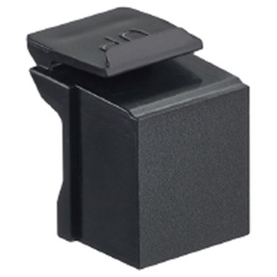 Leviton QuickPort Snap-In Connector Blank (10 Pack), Black