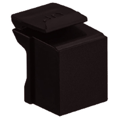 Leviton QuickPort Snap-In Connector Blank (10 Pack), Brown