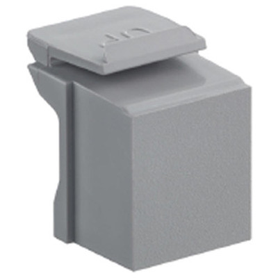Leviton QuickPort Snap-In Connector Blank (10 Pack), Gray