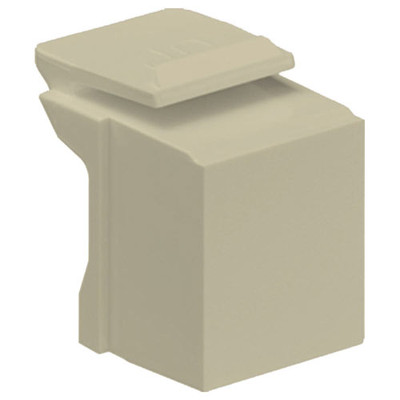 Leviton QuickPort Snap-In Connector Blank (10 Pack), Ivory