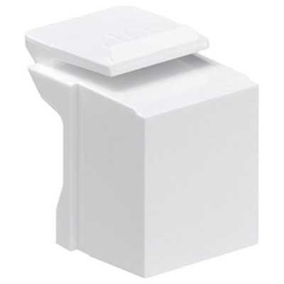 Leviton QuickPort Snap-In Connector Blank (10 Pack), White