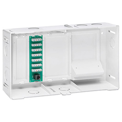 Leviton Compact Structured Media Enclosure with Telephone Board