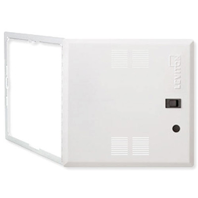 Leviton Structured Media Center Premium Hinged Vented Cover, 14 In.