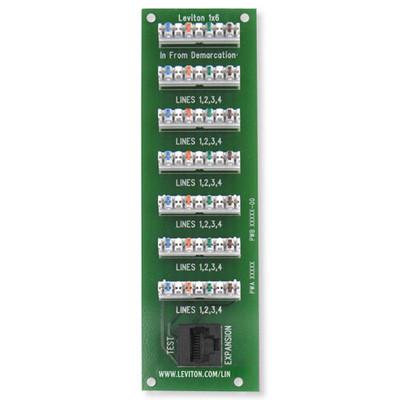 Leviton 1x6 Bridged Phone Board