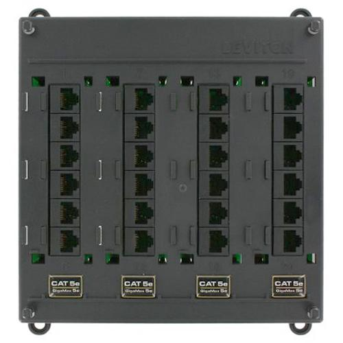 Leviton Twist & Mount Patch Panel, 12-Port, Cat6