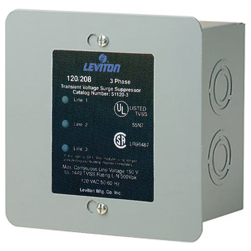 Leviton Whole House Surge Suppressor, 3-Phase