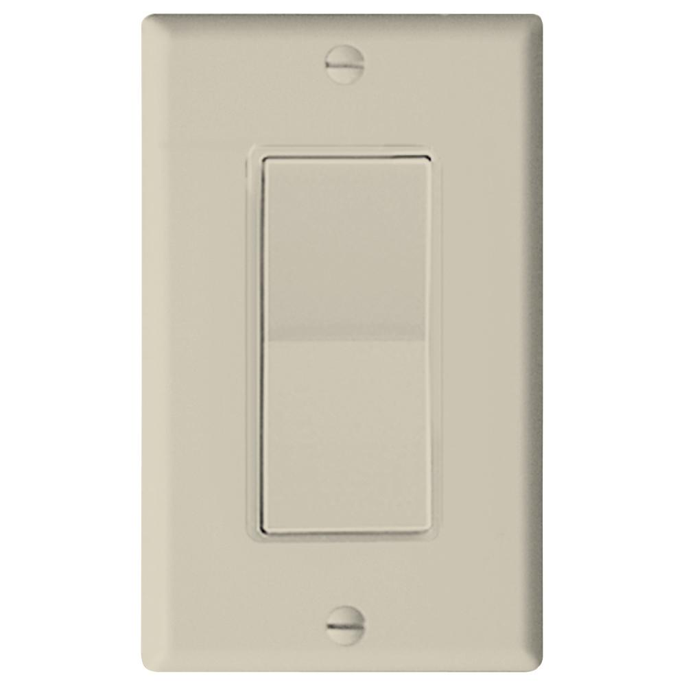 Leviton Decora Plus Wall Switch for Window Motors, Momentary Contact, Light Almond