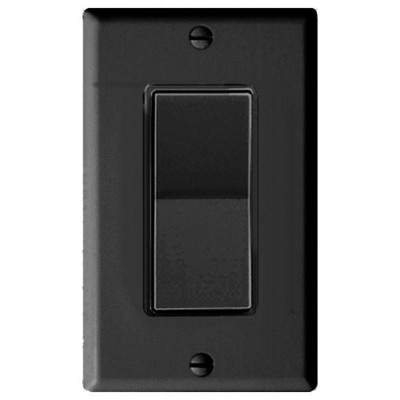 Leviton Decora Plus Wall Switch for Window Motors, Maintained Contact, Black