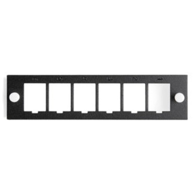 Leviton QuickPort Mounting Plate, 6-Port, Unloaded