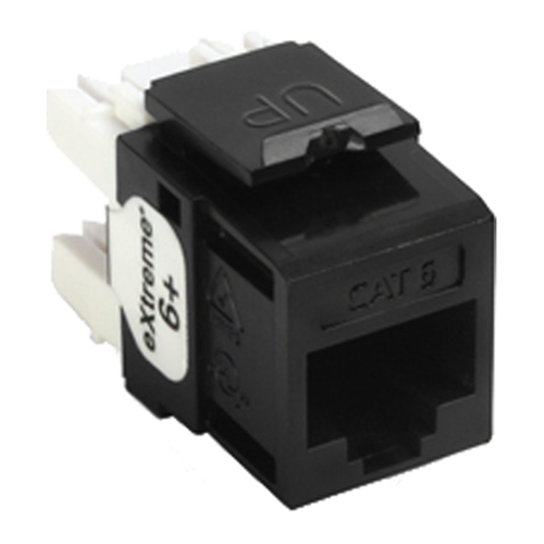 Leviton QuickPort Cat6 eXtreme Snap-In Connector, Black