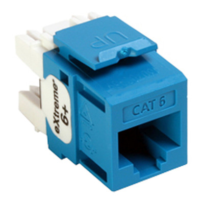 Leviton QuickPort Cat6 eXtreme Snap-In Connector, Blue