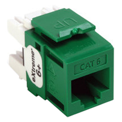 Leviton QuickPort Cat6 eXtreme Snap-In Connector, Green