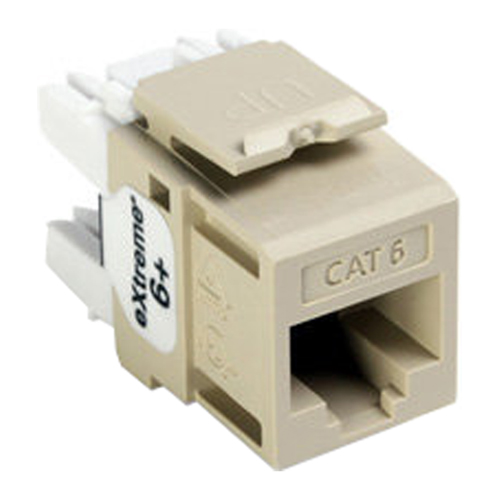 Leviton QuickPort Cat6 eXtreme Snap-In Connector, Ivory
