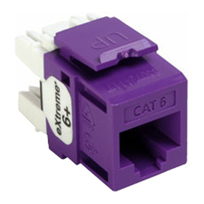 Leviton QuickPort Cat6 eXtreme Snap-In Connector, Purple