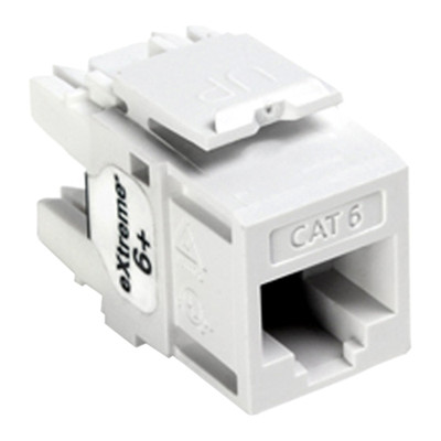 Leviton QuickPort Cat6 eXtreme Snap-In Connector, White