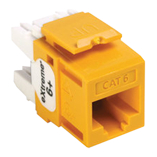 Leviton QuickPort Cat6 eXtreme Snap-In Connector, Yellow