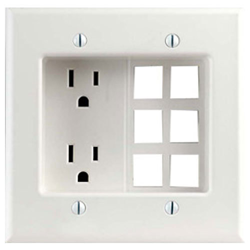Low Voltage Switch Box : Leviton power low voltage combo box