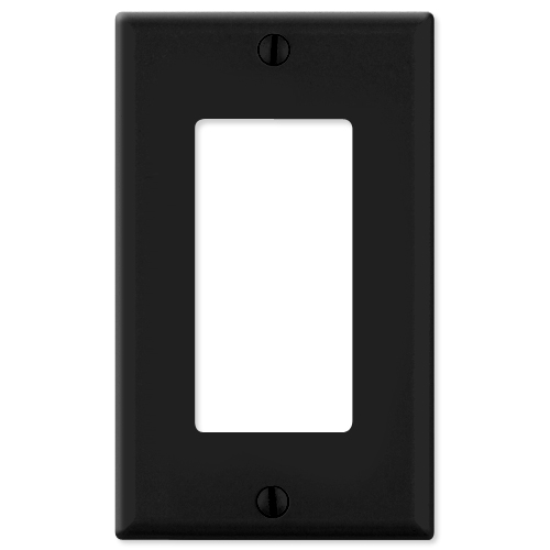 Leviton Decora Wallplate, 1-Gang, Black