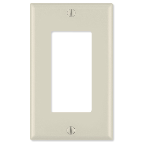 Leviton Decora Wallplate, 1-Gang, Light Almond