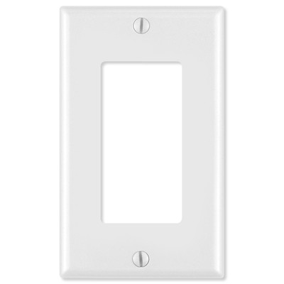 Leviton Decora Wallplate, 1-Gang, White