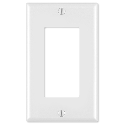 Leviton Decora Wallplate, 1-Gang, Brown