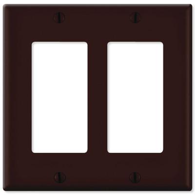 Leviton Decora Wallplate, 2-Gang, Brown