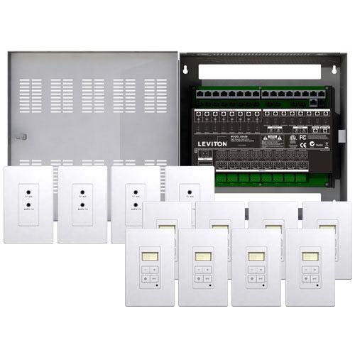 Leviton Hi-Fi 2 8 Zones, 8 Source Kit in Enclosure