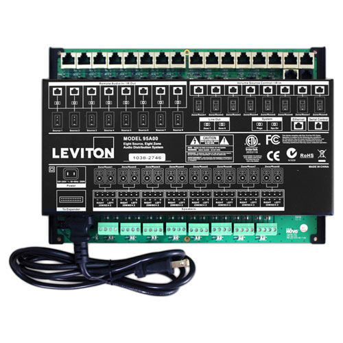 leviton hi fi 2 8 zones 8 sources amplifier rh homecontrols com Home Structured Wiring Panel GE Structured Wiring Panel