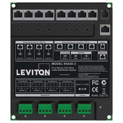 Leviton Hi-Fi 2 4 Zone, 4 Source Amplifier Only