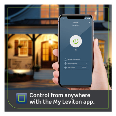 Leviton Decora Smart Wi-Fi Switch, 15A (2nd Gen)