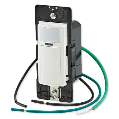 Leviton Decora In-Wall Vacancy Sensor Switch, Manual-On, 2A, Single-Pole