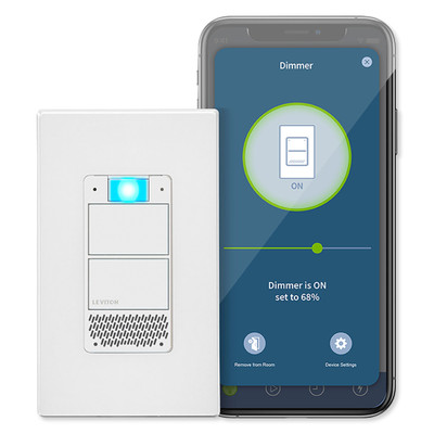 Leviton Decora Smart Voice Dimmer with Built-In Amazon Alexa