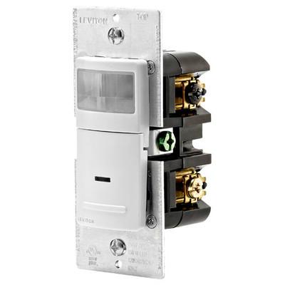 Leviton Universal Wall Switch Vacancy Sensor, 600W, Manual On