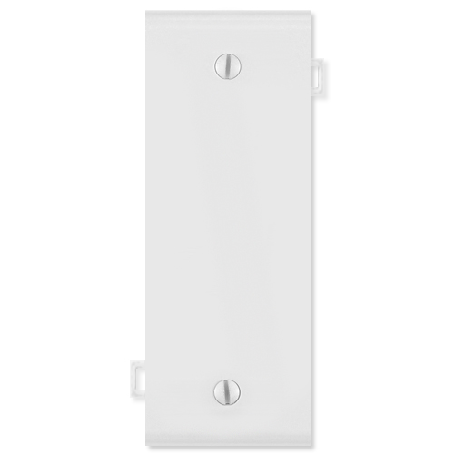 Leviton Blank Sectional Wallplate (Center Section), White