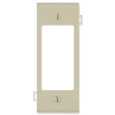 Leviton Decora Sectional Wallplate (Center Section), Ivory