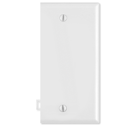Leviton Blank Sectional Wallplate (End Section), White