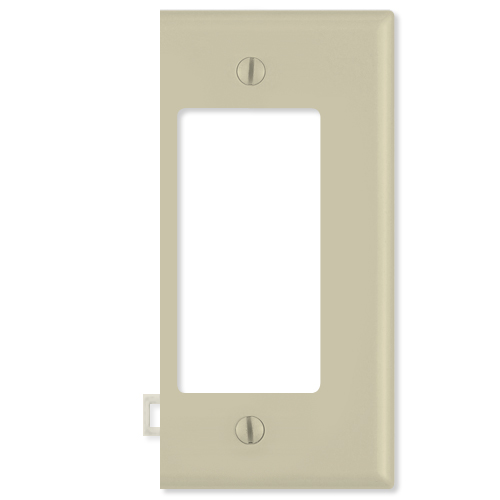 Leviton Decora Sectional Wallplate (End Section), Ivory