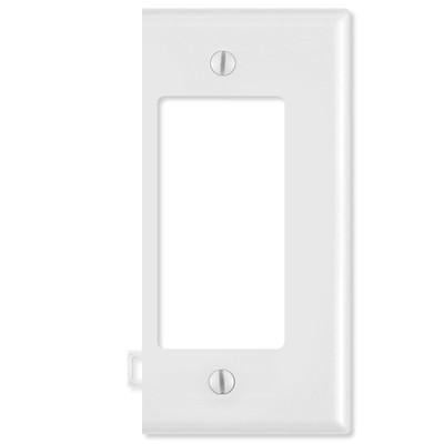 Leviton Decora Sectional Wallplate (End Section), White