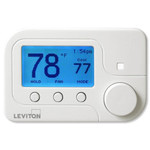 Leviton Zigbee Omnistat2, Conventional & Heat Pump with Auxiliary Heat, White