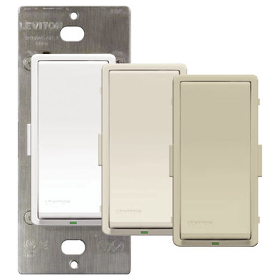 Leviton Vizia + Electronic On/Off Wall Switch
