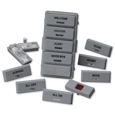 Leviton Vizia RF + Label Kit for VRCS4 Controller, Gray