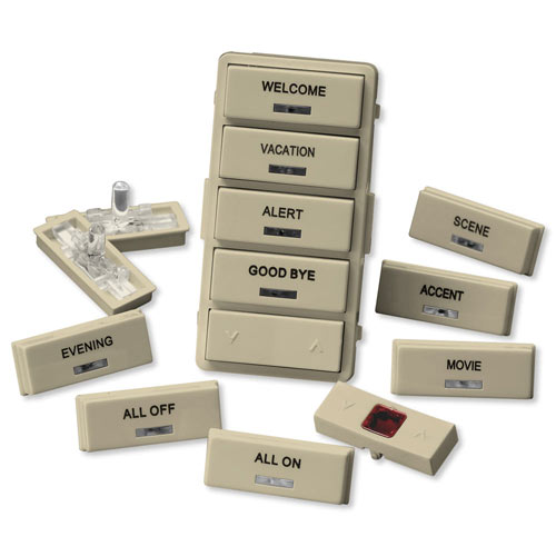 Leviton Vizia RF + Label Kit for VRCS4 Controller, Ivory