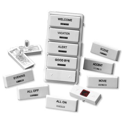 Leviton Vizia RF + Label Kit for VRCS4 Controller, White