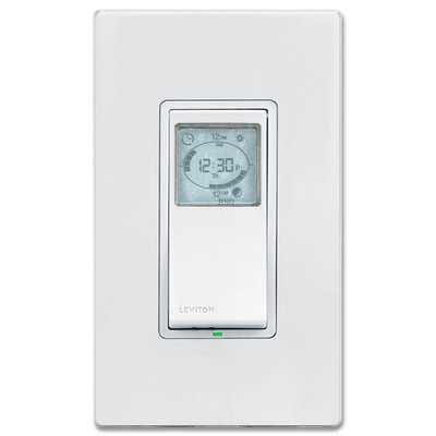 Leviton VPT24-1PZ | 24-Hour Programmable Timer Switch