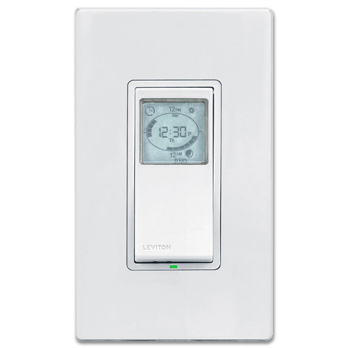 Leviton Vizia + 24 Hour Programmable Timer Wall Switch