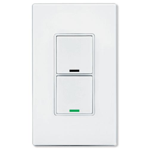Leviton Vizia RF + Z-Wave 2-Button Scene Wall Controller with Switch