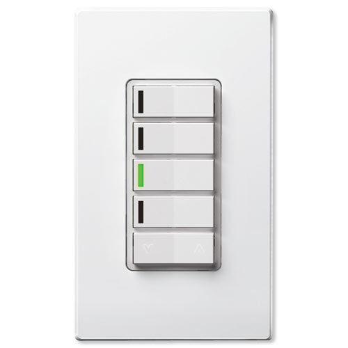Leviton Vizia RF + Z-Wave 4-Button Zone Wall Controller