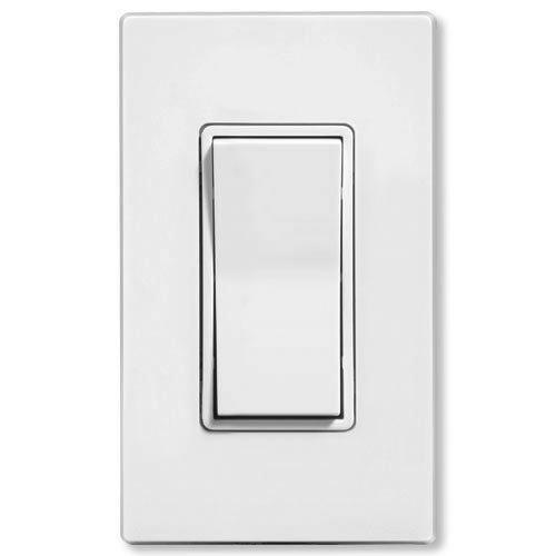 Leviton LevNet EnOcean Light Switch, Single Rocker:Leviton LevNet EnOcean Wireless Wall Switch Transmitter, White,Lighting