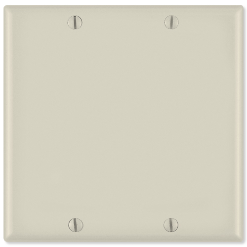 Leviton Blank Wallplate, 2-Gang, Light Almond